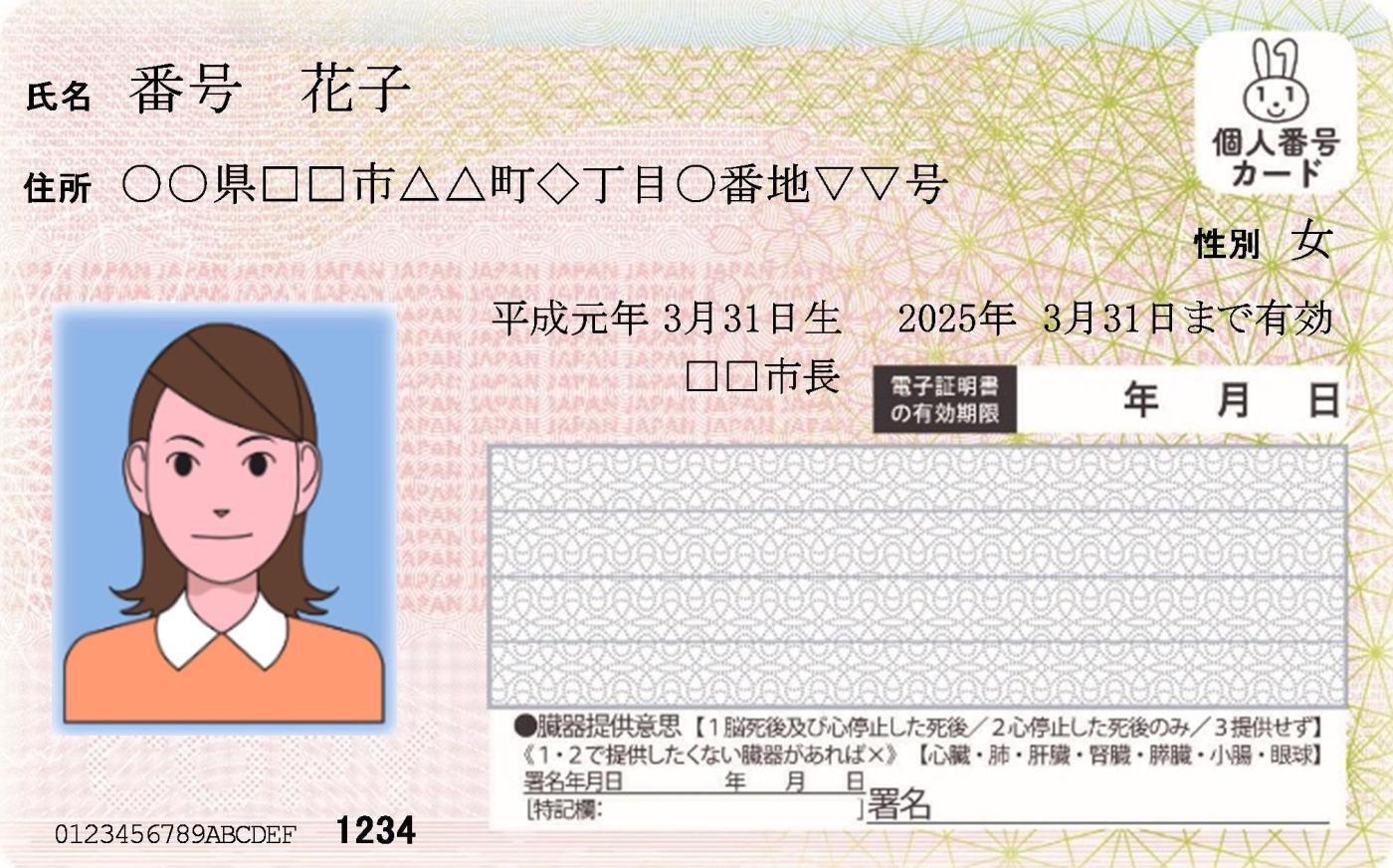 番号 カード 個人