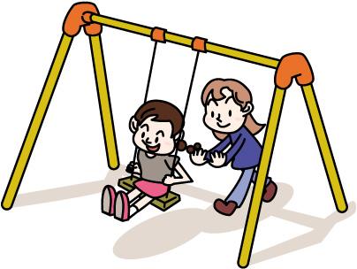 ブランコをする子どもイラスト